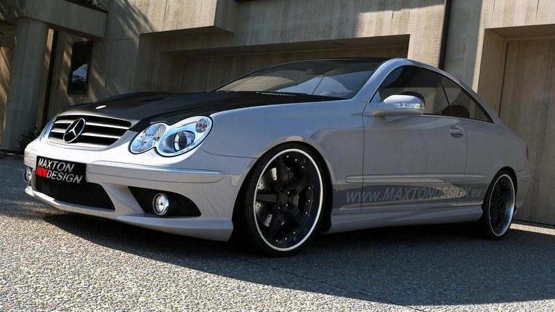 Dokładki Progów Mercedes CLK W209 AMG Look - GRUBYGARAGE - Sklep Tuningowy